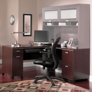 Bush Tuxedo Computer Desk  :  desk home furnishings office furniture computer desk