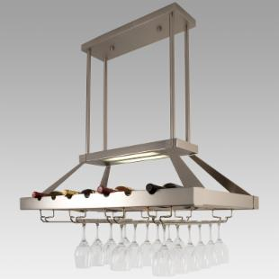 Hanging Wine Rack With Built in Lighting from ewineracks.com