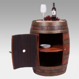 Reclaimed Wine Barrel Storage Cabinet from ewineracks.com