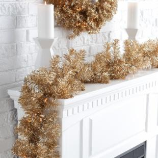 Classic Champagne 9 ft. Pre-lit Garland