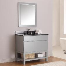 36 in. Chilled Gray Free Standing Vanity Set