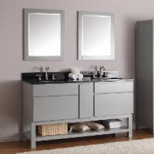 60 in. Chilled Gray Free Standing Vanity Set