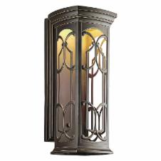 kichler 49229ozled franceasi led wall lantern 25h in bronze finish. Black Bedroom Furniture Sets. Home Design Ideas