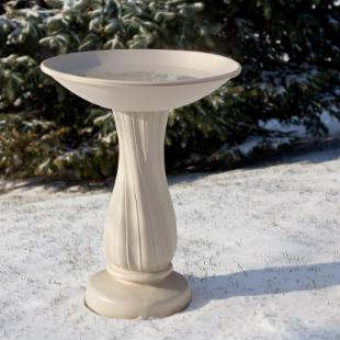 Allied Precision Heated Bird Bath Bowl & Pedestal