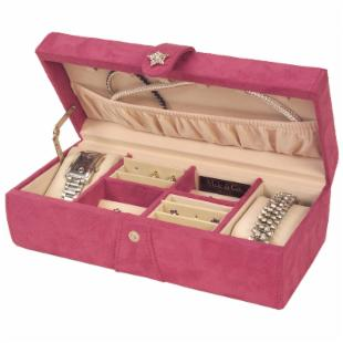 Alyssa Jewelry Box - Magenta