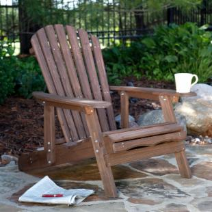 Grand Daddy Oversized Adirondack Chair with Pull out Ottoman - Dark Brown
