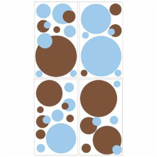 Just Dots Blue/Brown Peel &amp; Stick Appliques