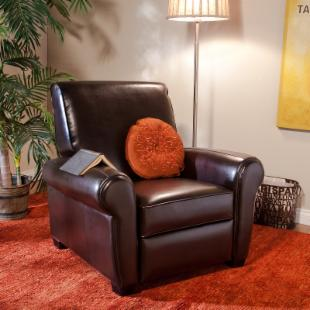 Rolland Leather Reclining Club Chair