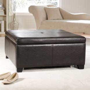 Corbett Coffee Table Storage Ottoman - Square