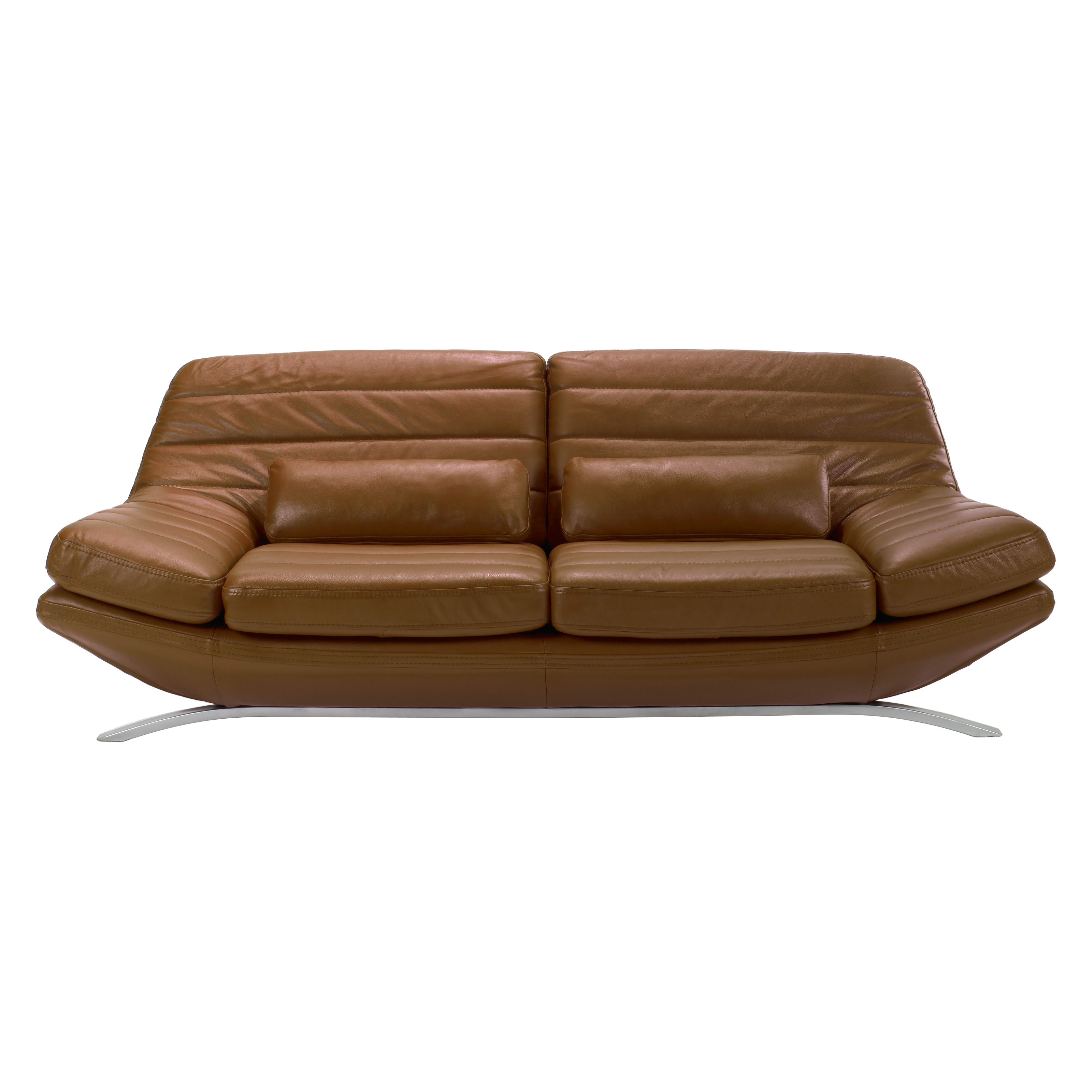 Armen Living Riviera Whiskey Leather Sofa At Hayneedle