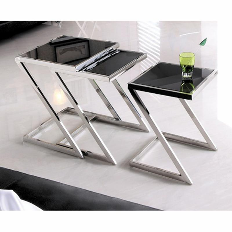 Armen Living Halo Nesting Tables AA540-1