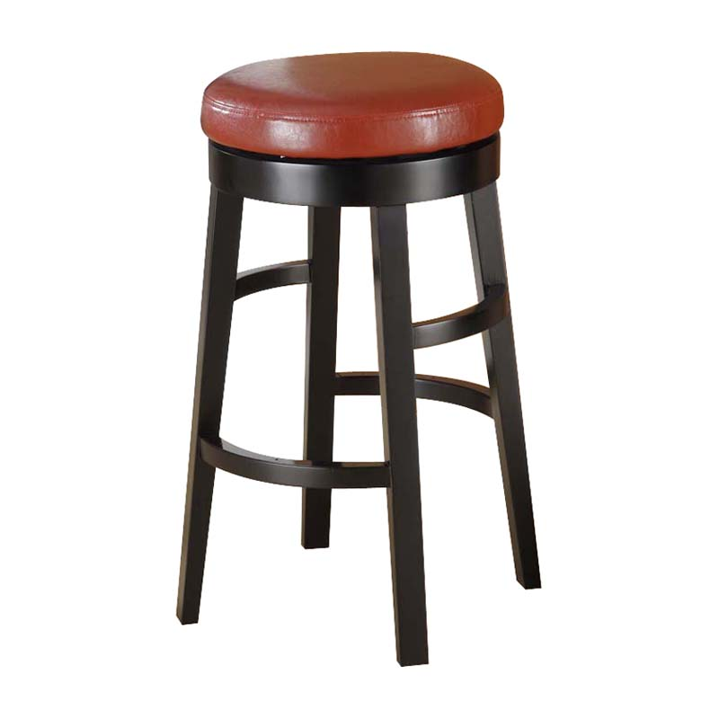 Armen Living Halo Backless Bar Stool Red 30 In Bar