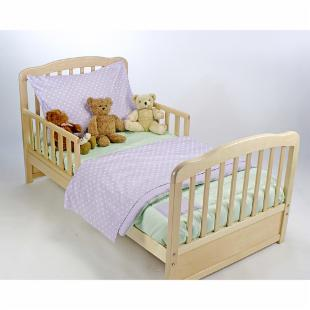 American Baby Company Toddler Bedding Set - Lavender and Celery