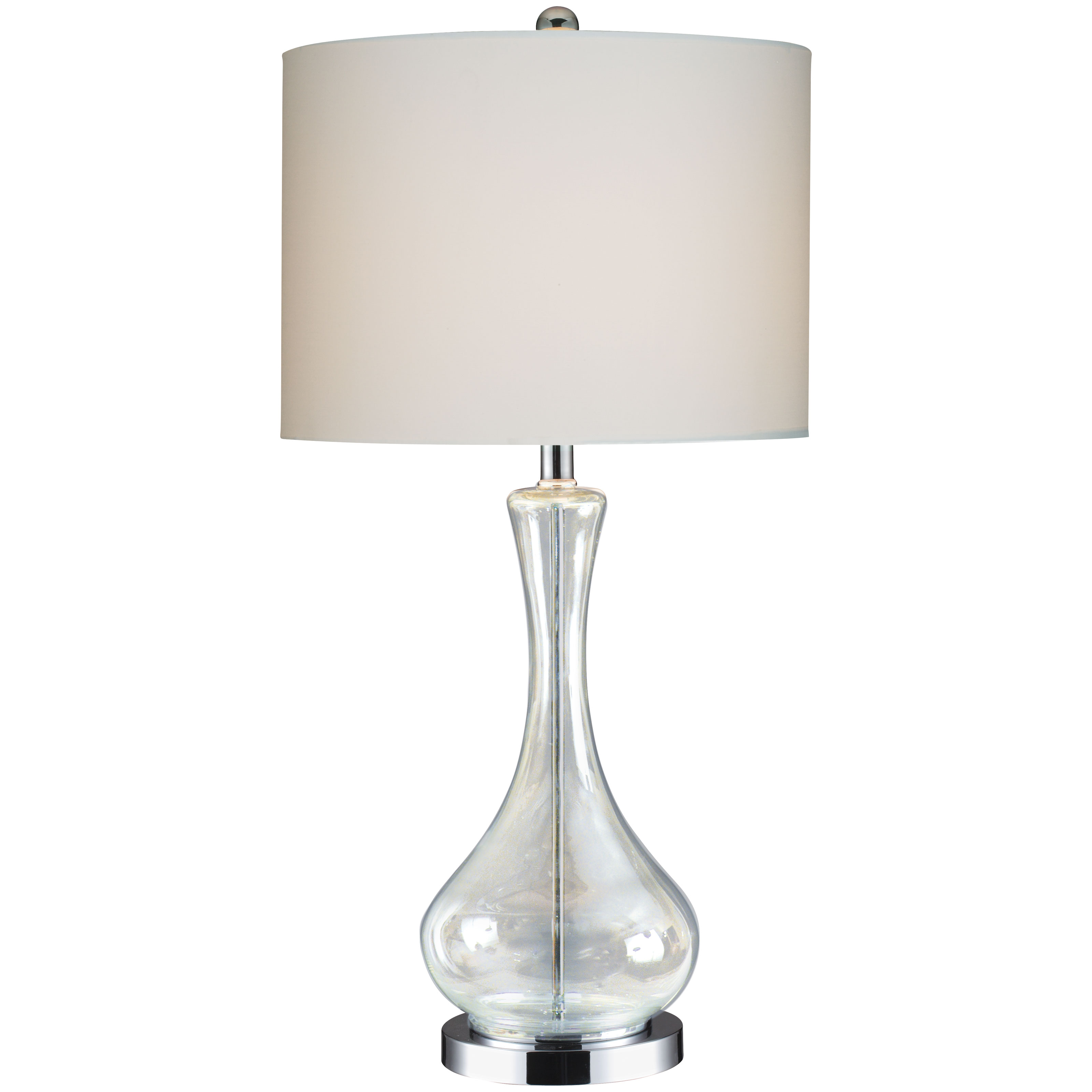 g2084 chrome clear glass table lamp at hayneedle. Black Bedroom Furniture Sets. Home Design Ideas