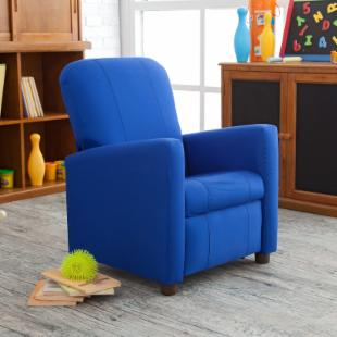Ace Bayou Lockport Royal Blue Kids Recliner