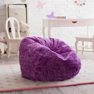 Ace Bayou Small Chenille Lounger Bean Bag Chair
