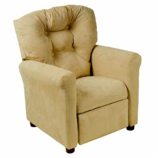 Traditional Microfiber Childrens Recliner - Brownstone