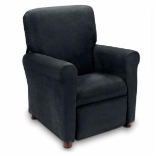 Urban Microfiber Childrens Recliner - Black