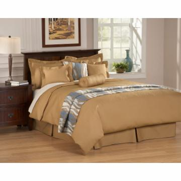 Chelsea Frank Emery Decorative Solid Pillow - 7 x 18 in. Neckroll - Camel