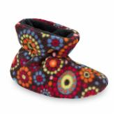 Acorn Easy Bootie for Kids in Chocolate Dots