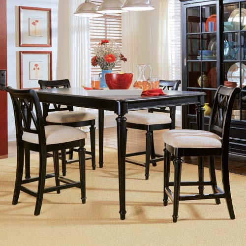Stanton Counter Height Dining Table In Black: Camden Black Counter Height Table At Hayneedle