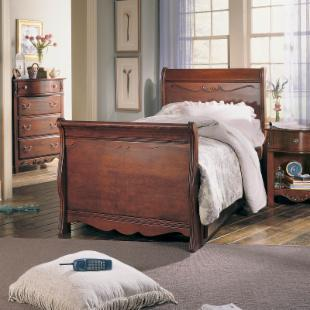 Antique Treasures Sleigh Bed