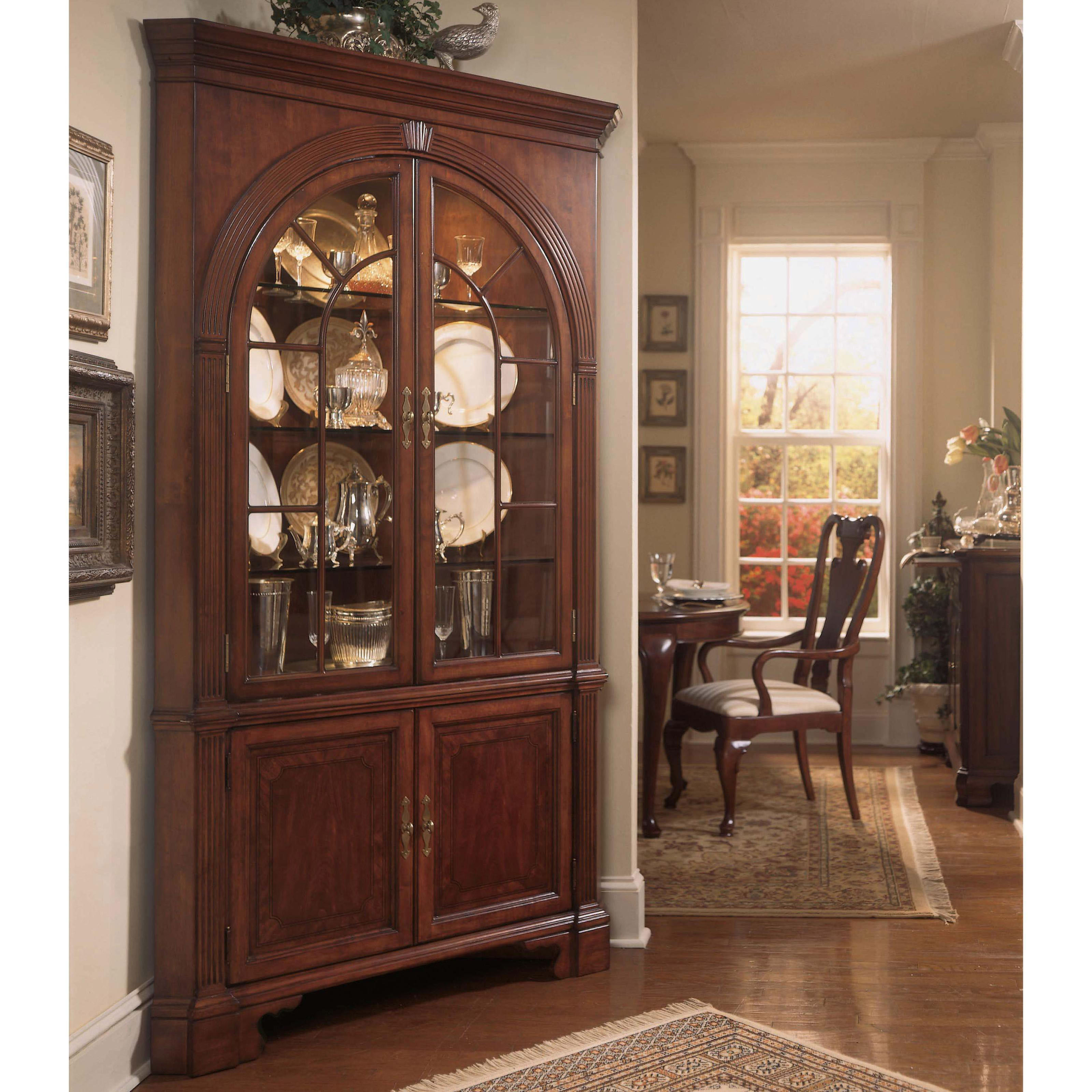 Corner Cabinet Dining Room Hutch: American Drew Cherry Grove Corner China Cabinet