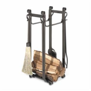 Pilgrim Forged Iron Log Rack with Tools