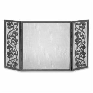 Cast Rose Tri-Panel Fireplace Screen