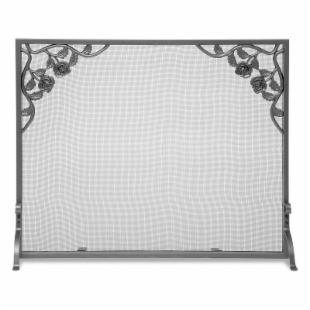 Cast Rose Flat Panel Fireplace Screen