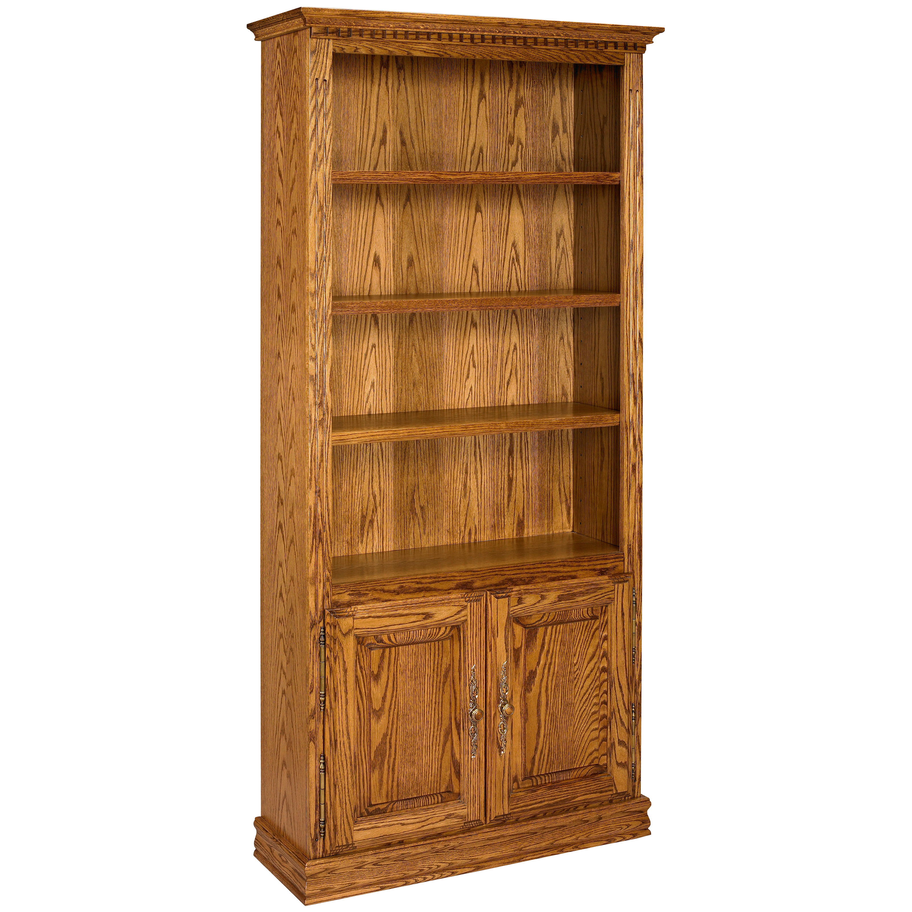 a e solid oak britannia wood bookcase with doors