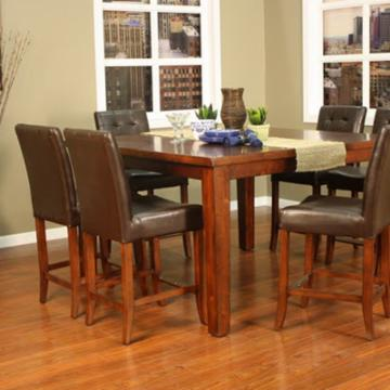 AHB Cameo 7 pc. Counter Height Set with Hancock Stools