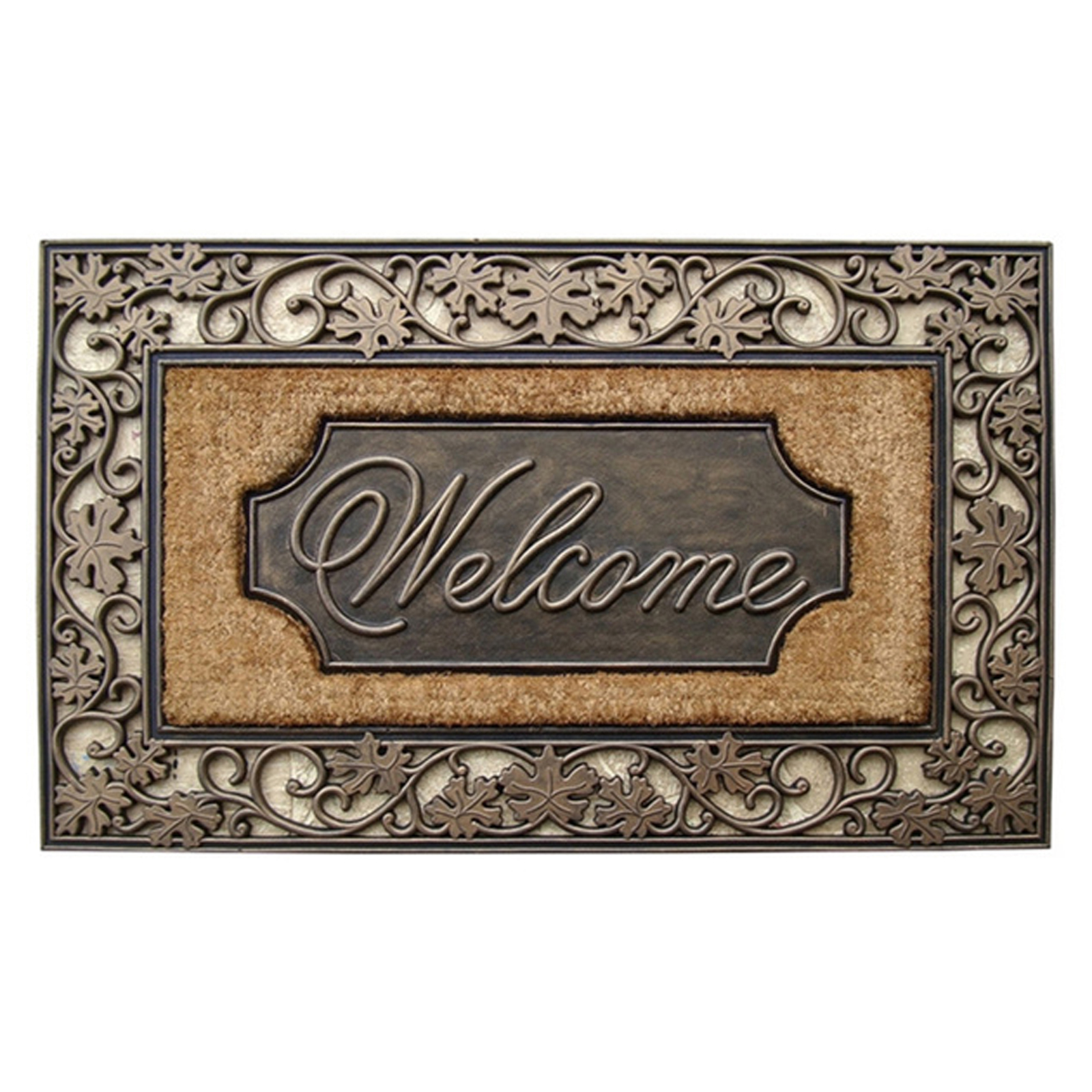 First Impression Large Welcome Outdoor Brush Doormat