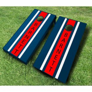 Personalized Striped Tournament Cornhole Set