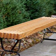 Backless 5-ft. Mall-Style Bench