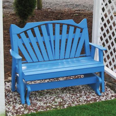 Fan Back Style Glider Bench