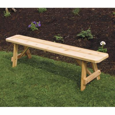 A & L Furniture Traditional Cedar Backless Bench