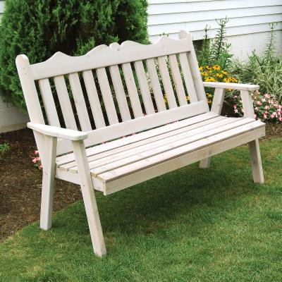 A & L Furniture Royal English Cedar Garden Bench