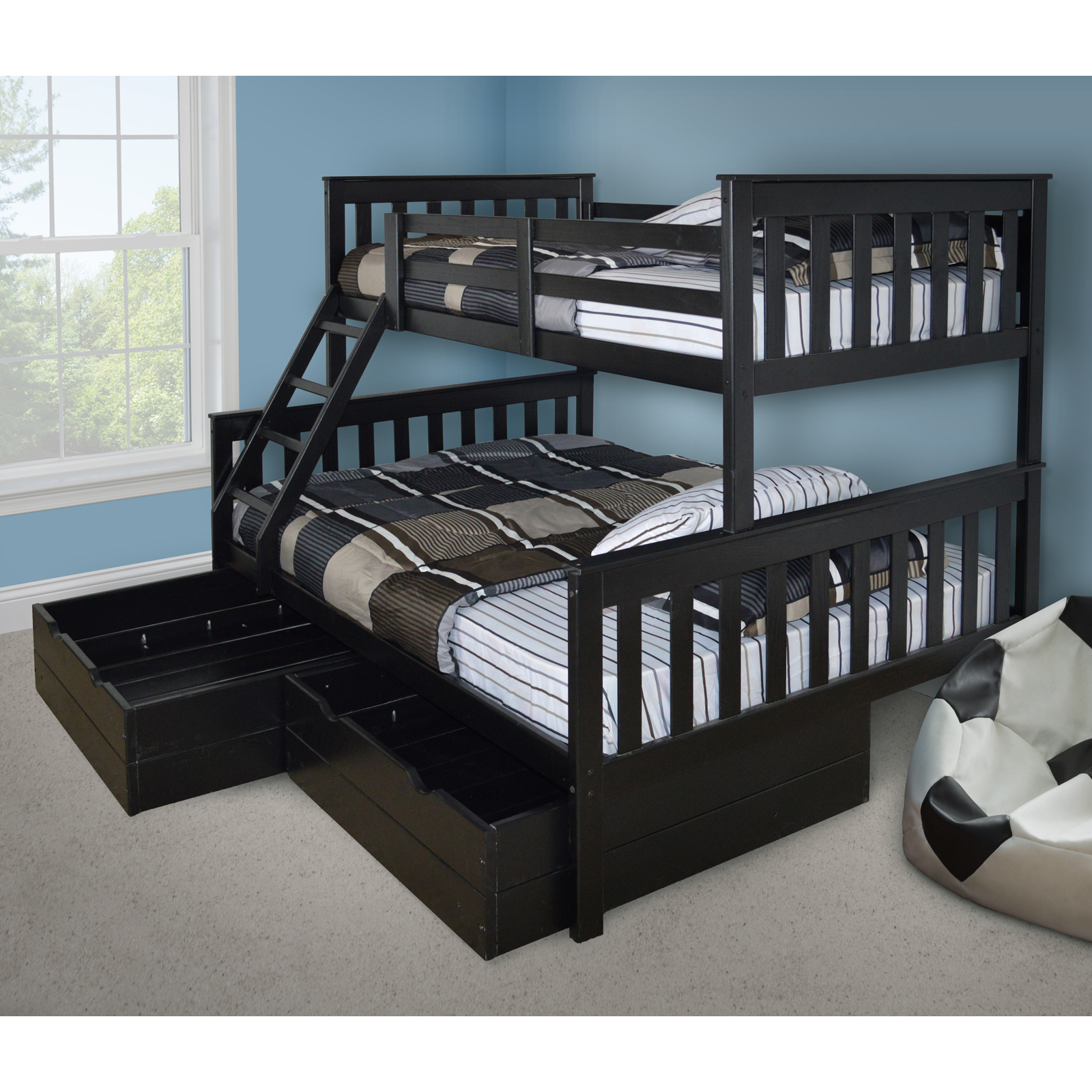VersaLoft Mission Twin Over Full Bunk Bed