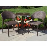  Vento Due All-Weather Wicker Patio Bistro Set