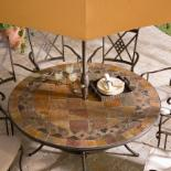  Palazetto Lucca 60-inch Round Mosaic Dining Set