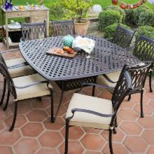  Palazetto Milan Collection Cast Aluminum Patio Dining Set - Seats 8