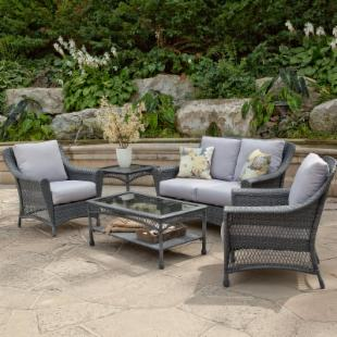 Palazetto Arbor All-Weather Wicker Conversation Set