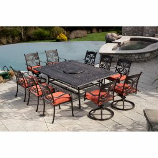 Alfresco Home Farfalla 60 x 84 in. Rectangular Patio Dining Set - Seats 10