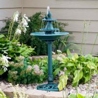 Alpine Bird Bath Fountain with Fish