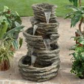  Alpine Five-Level Rock Pond Waterfall Fountain