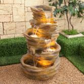  Alpine Five-Level Terra Red Pond Waterfall Fountain