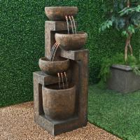 Alpine 3 Tier Cascading Pot Indoor/Outdoor Floor Fountain
