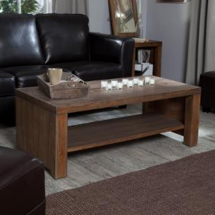 Brinfield Rustic Solid Wood Coffee Table