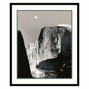 Moon Over Half Dome Framed Wall Art by Ansel Adams - 26.91W x 31.41H in.
